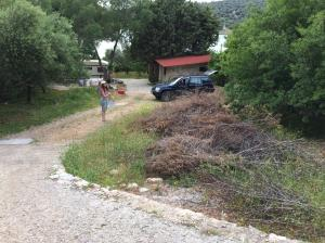 Plot of land 590sq m in idyllic village, South Evia island