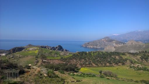 Villa complex to be completed on 7000 sq.m plot near Schinaria beach, Plakias