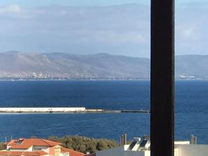 Γωνιοδιαμπερες διαμ/σμα γ'οροφου,55τμ,1υδ,ΘΕΑ στο Νηρεα �